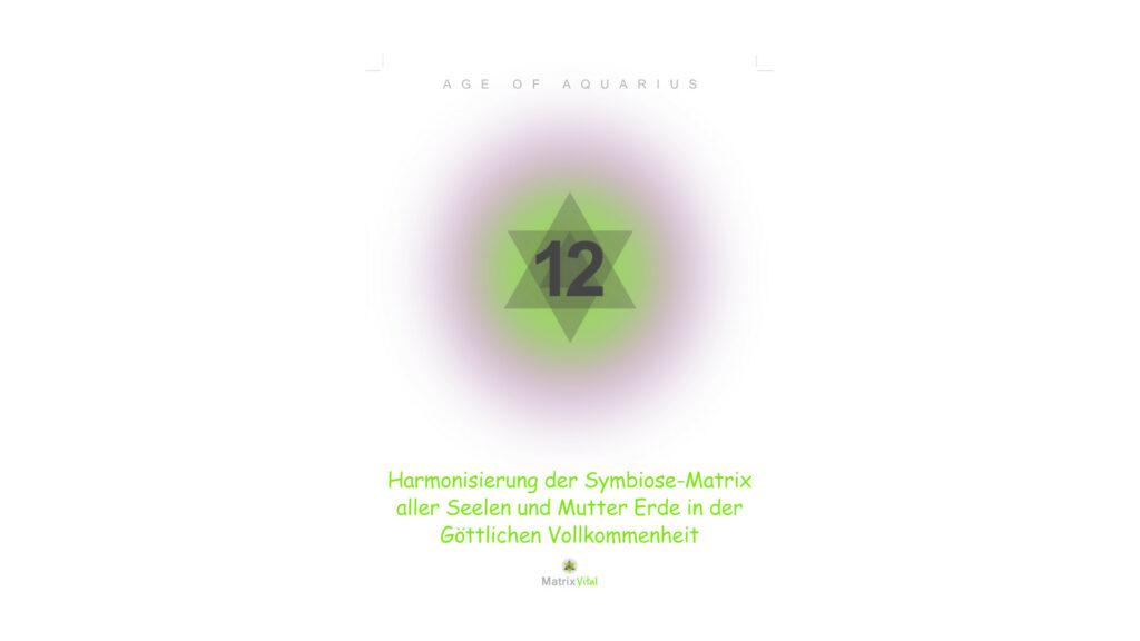 MatrixVital Aquarius Heilkarte Nr. 12 – Harmonisierung der Symbiose-Matrix aller Seelen und Mutter Erde in der Göttlichen Vollkommenheit