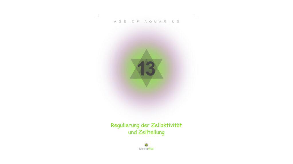 MatrixVital Aquarius Heilkarte Nr. 13 – Regulierung der Zellaktivität und Zellteilung
