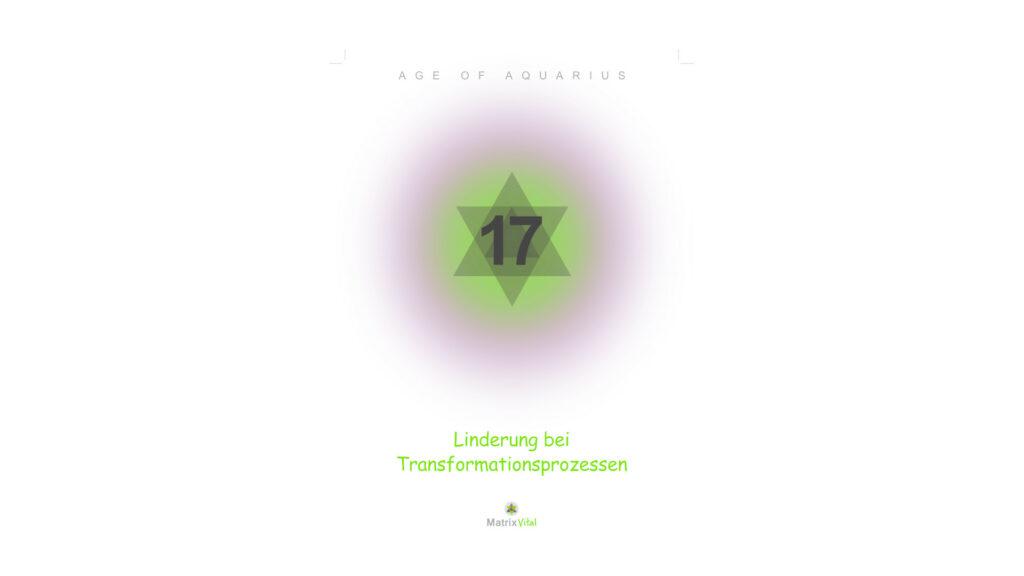 MatrixVital Aquarius Heilkarte Nr. 17 – Linderung bei Transformationsprozessen