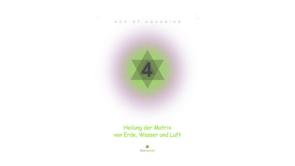 MatrixVital Aquarius Heilkarte Nr. 4 – Heilung der Matrix von Erde, Wasser und Luft